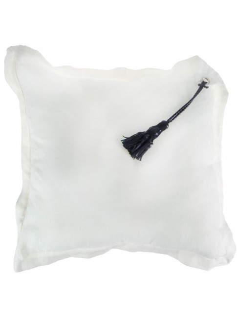 Tassel Cushion White
