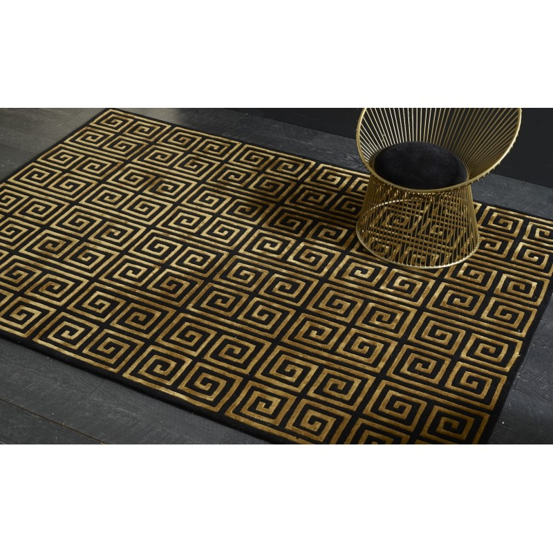 Artisan Opulence Rug Versace Black Gold Love That Homewares