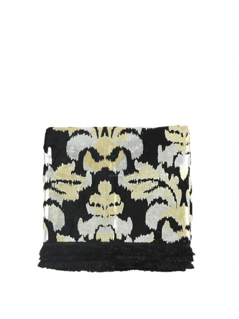 Fleur Throw Black