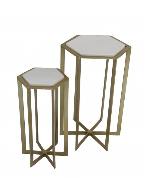 Ava Nesting Gold Set of 2 Tables