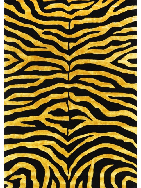 ZEBRA BLACK GOLD HAND TUFTED RUG 200X290cm