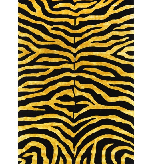 Artisan Zebra Gold And Black Wool Viscose Rug Love That