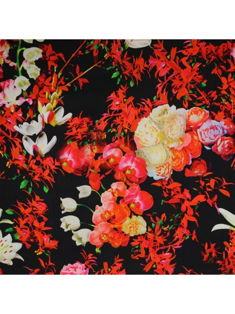 Floral Wall Hanging Red Orange