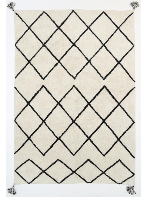 Kochela Diamond Black Rug