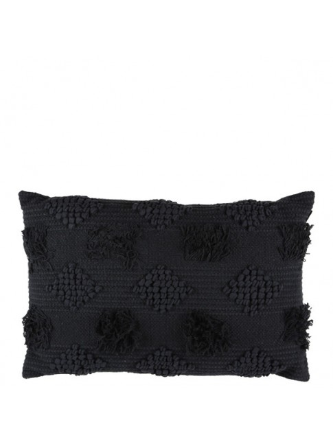 Diamond Cushion Black 60cm x 40cm
