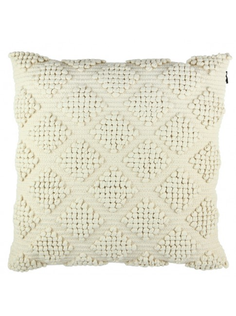 Diamond Cushion Ivory  60cm x 60cm