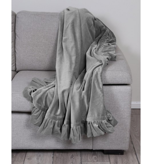 Ruffle Throw Grey 125x150cm