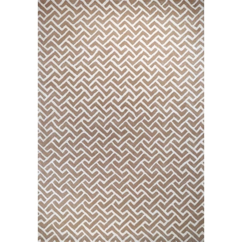 Artisan Opulence Labirent Rug Taupe White Love That