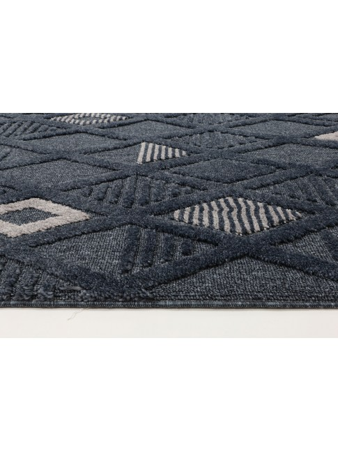 Zellige Diamond Blue Rug