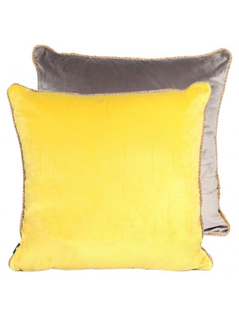 Z Sale Matilda Cushion Dark Grey Yellow