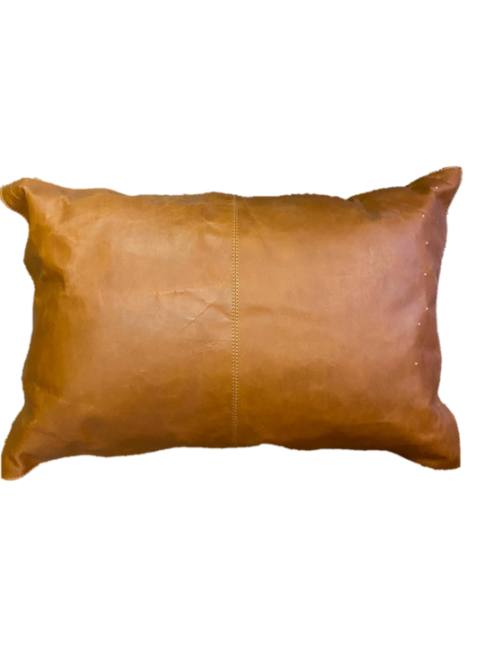 Kravat Tan Leather Cushion 60x40cm