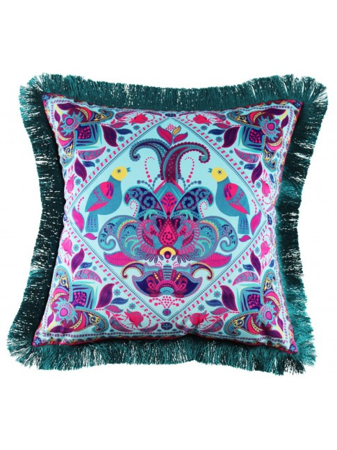 Z Sale Eden Cushion Turquoise Marsala