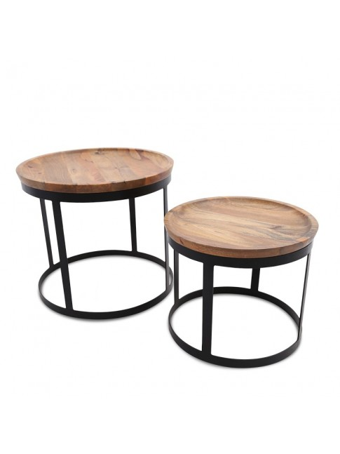 Jaxon Mild Steel Set of 2 Tables