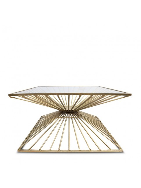 Bella Iron Square Coffee Table
