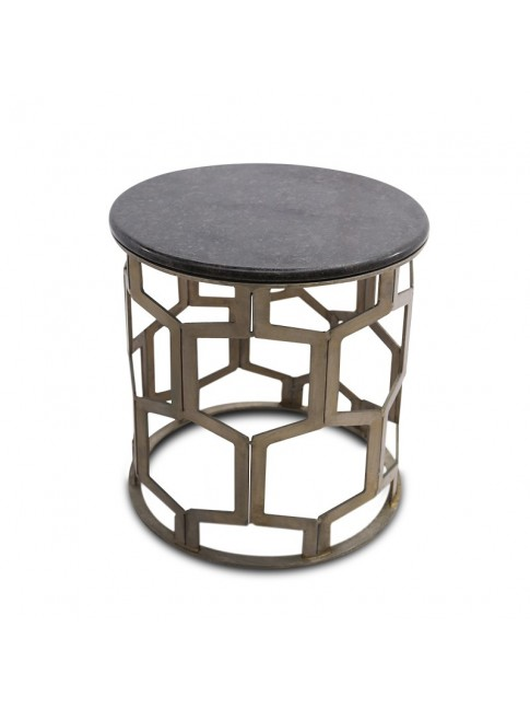 Empress Black Marble Side Table